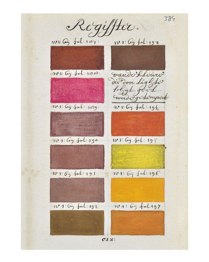 17th Century Paintbox Palette No 3 Color Color Me Dutch Golden Age