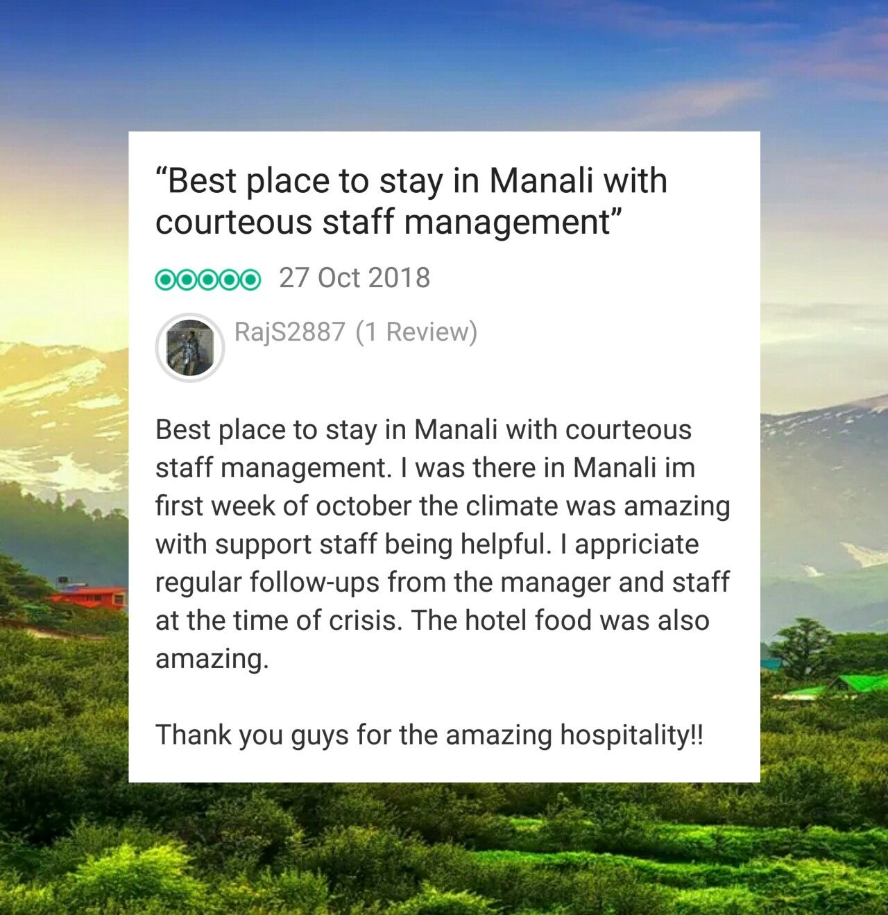 Another lovely Tripadvisor review! If you enjoyed our food & service ...