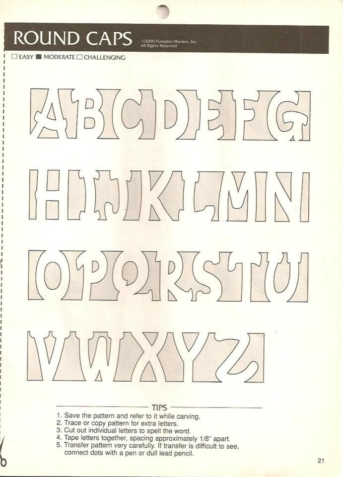 pumpkin carving letter template
