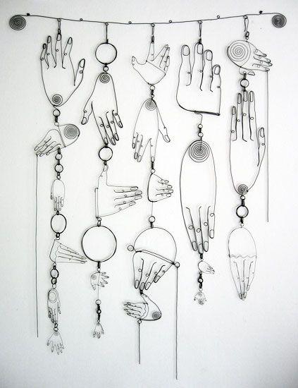 Line Art Letters : Diane komater … representational wire sculpture