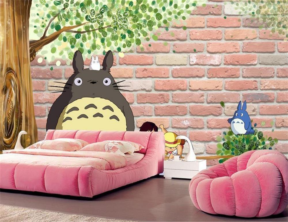 3D wallpaper/custom photo wall paper/Kids\' Room/3 d totoro hayao ...