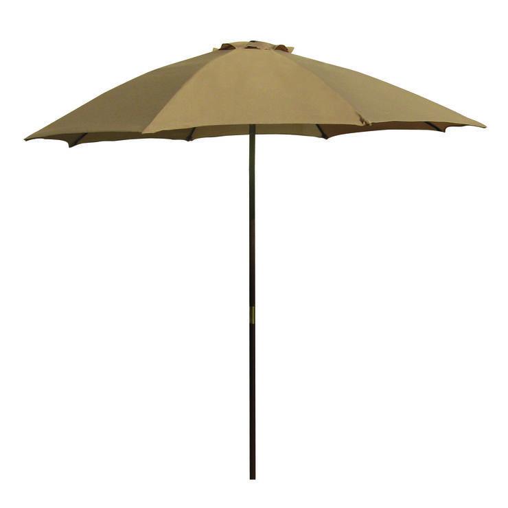 Market Tan Umbrella 6ft 1910 Maisonette Patio Outdoor Outdoor Decor