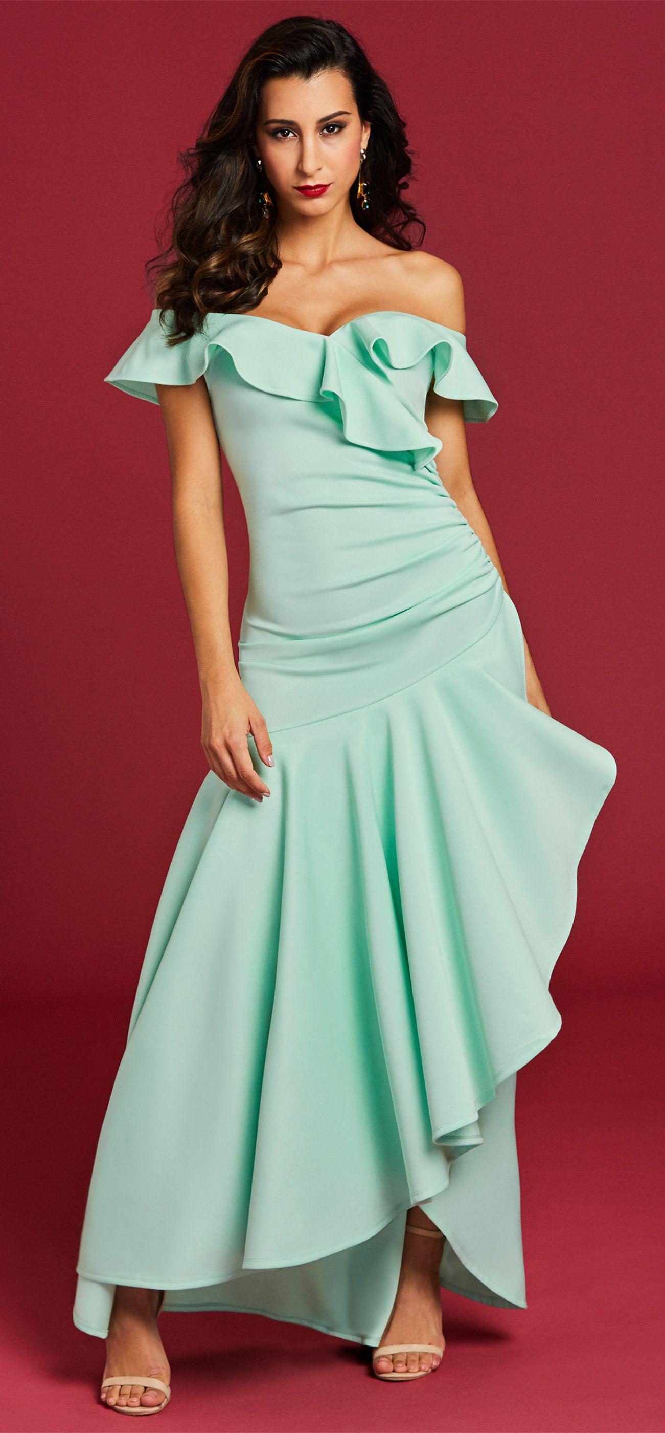 AnkleLength Plain VNeck Zipper Women's Maxi Dresse