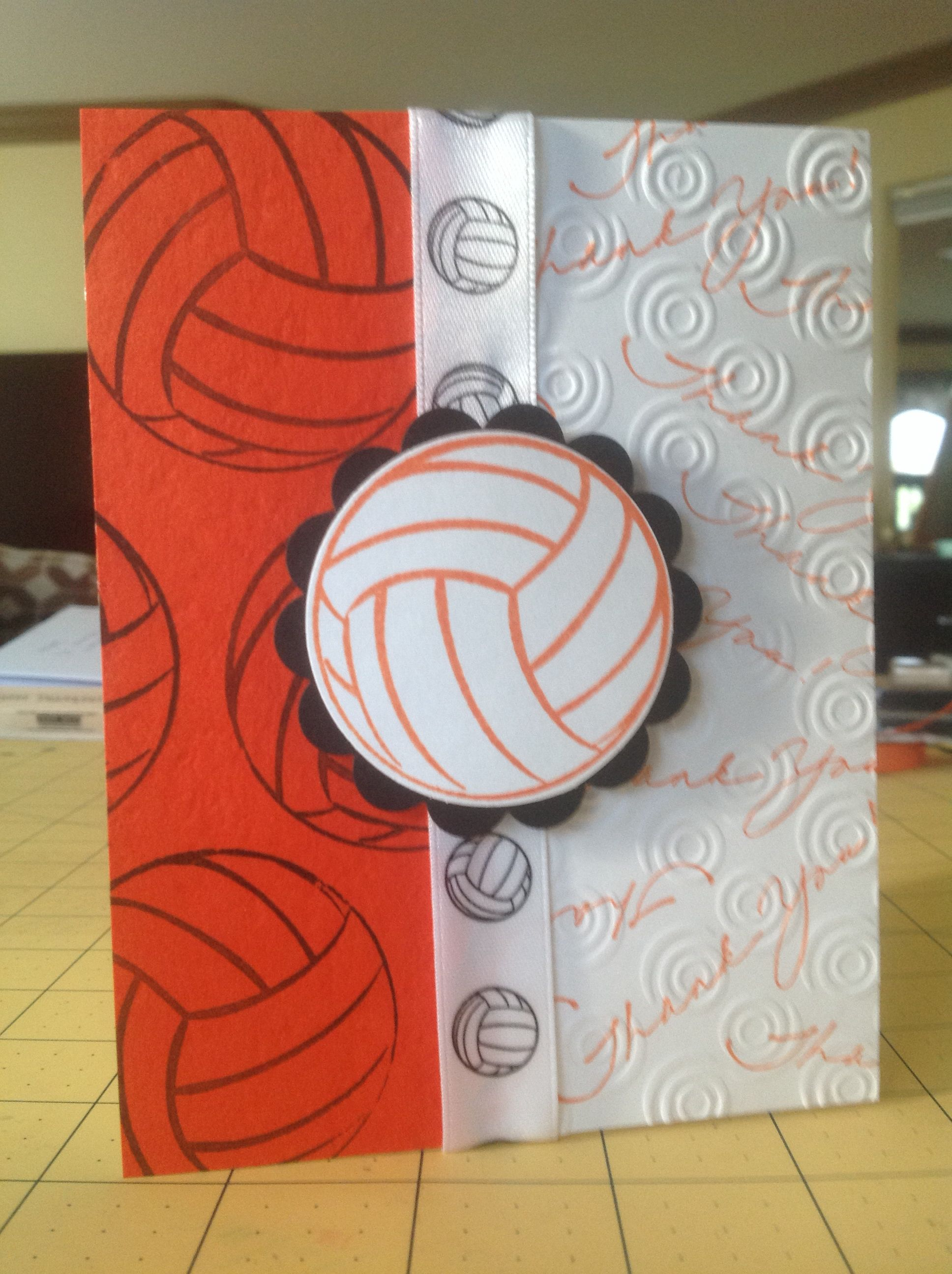 Volleyball Coach Card Homemade Cards Happy Birthday Cards Cards