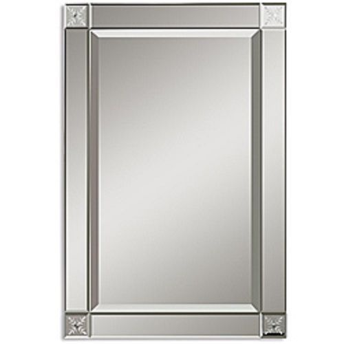 186 99 Large Wall Mirror Silver Beveled Framed Rectangle Mirrors Contemporary Decor