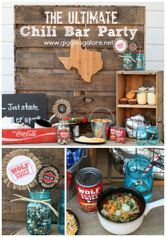 The Ultimate Chili Bar with Wolf Brand Chili