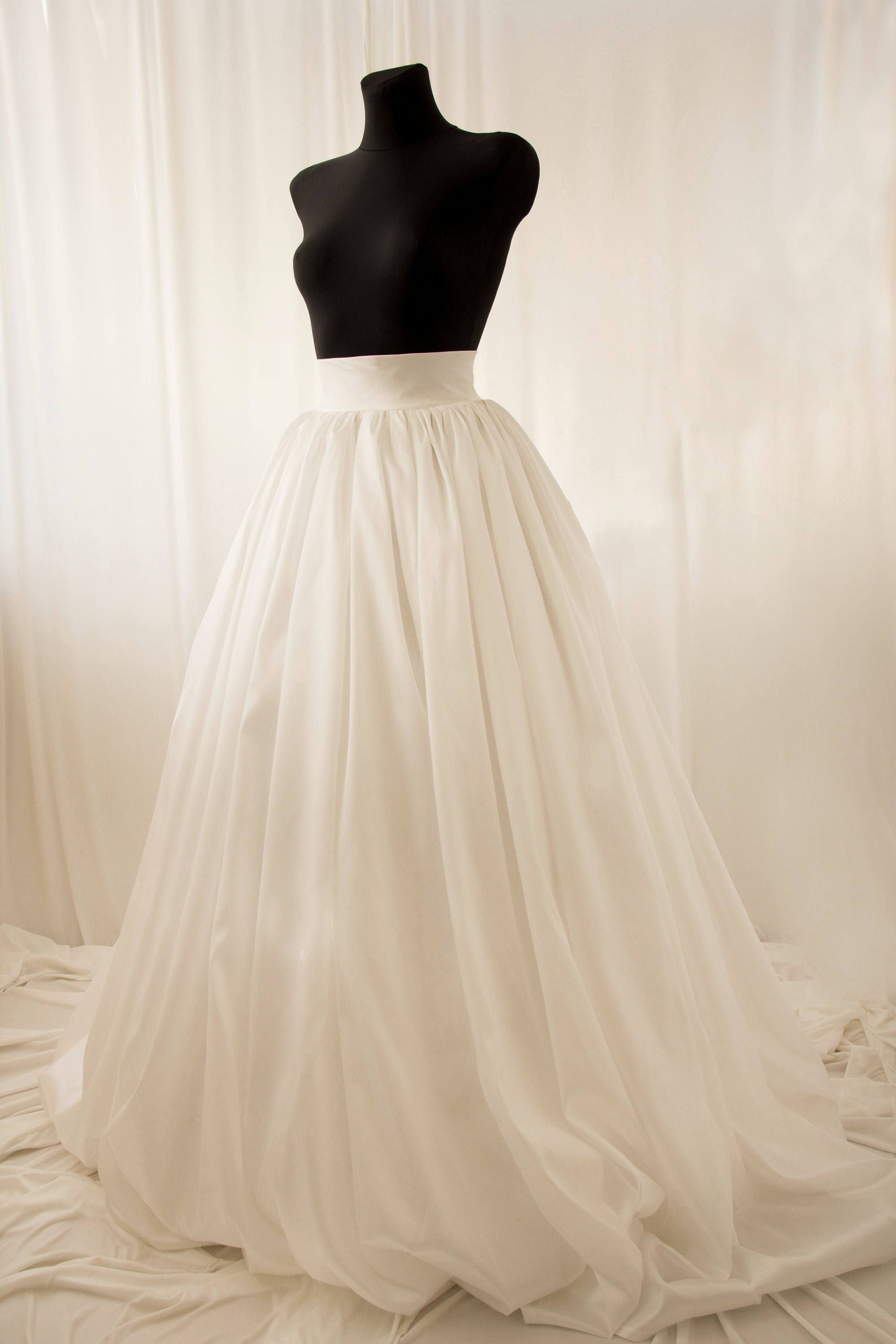 Taffeta Skirt, Ball Gown Skirt, Ivory Wedding Skirt, Wedding Skirt ...