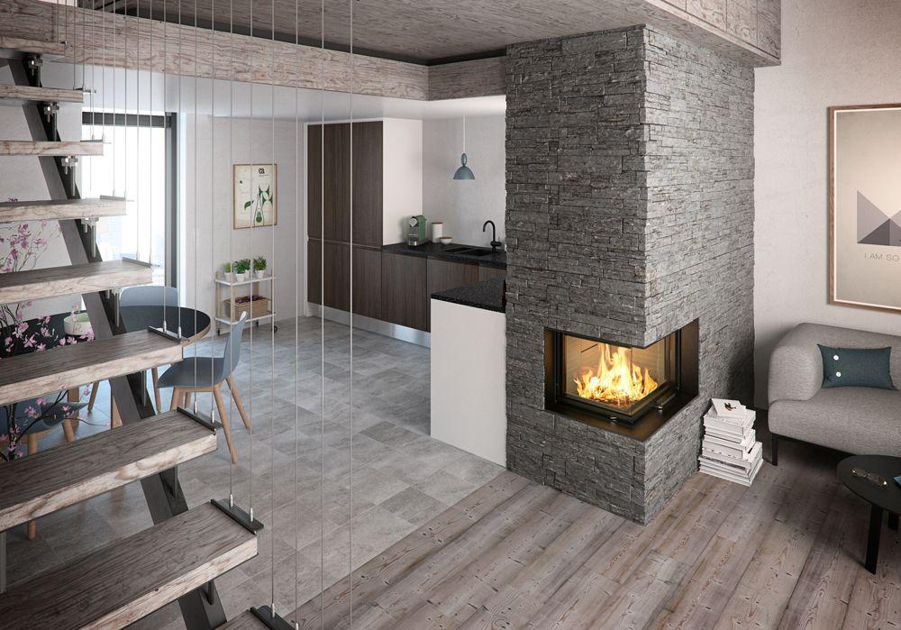 Wood Burning Built In Corner Stove
