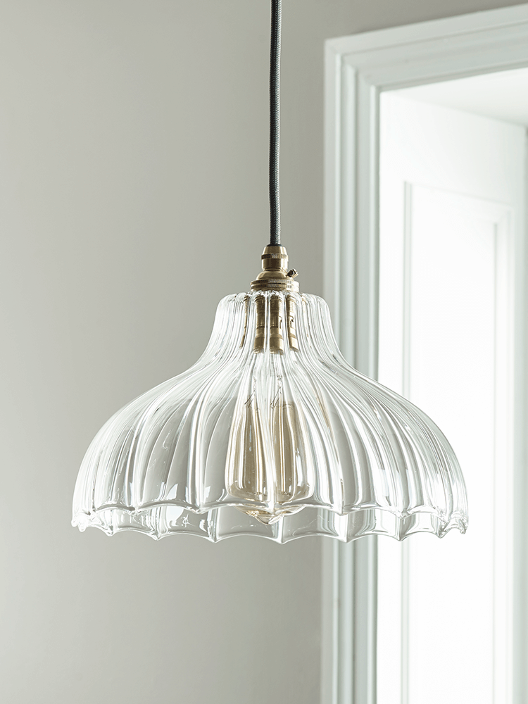 Handcrafted Fluted Glass Parasol Light In 2019 Ceiling