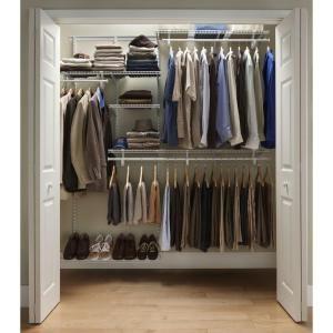 Closetmaid Shelftrack 6 Ft 8 Ft Closet Organizer Kit With Shoe Shelf 2875 At The Home Depo Closet Organizer Kits Closet Organizing Systems Home Depot Closet