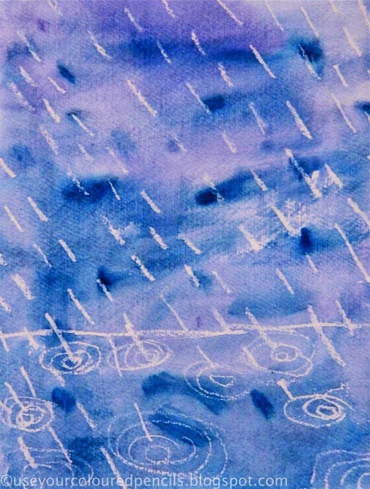 Use Your Coloured Pencils: Rainy Day Watercolours