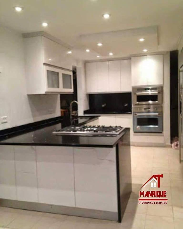Hermosa Cocina En Alto Brillo Blanco Kitchen Cabinets Kitchen Decor