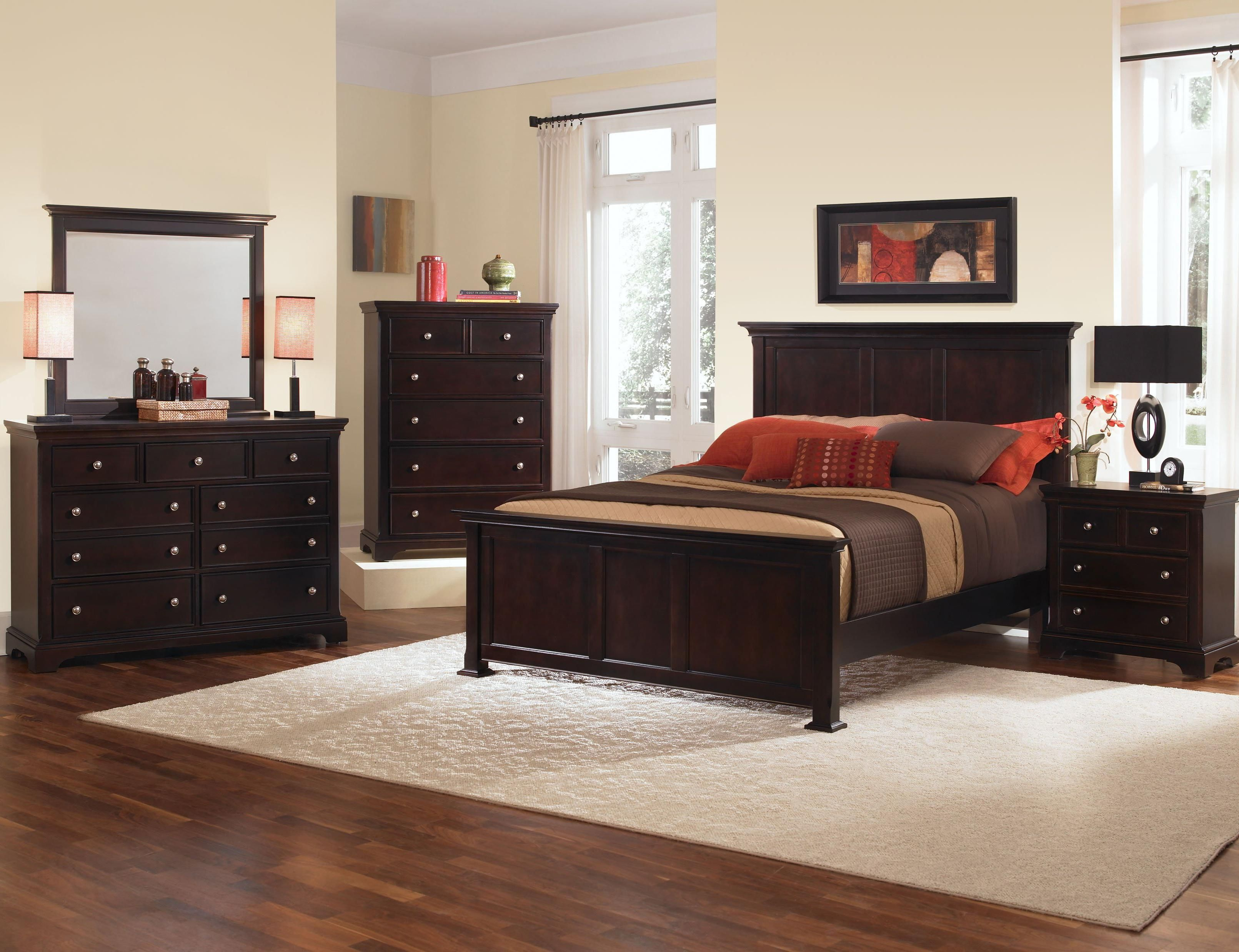 bed group ebony queen with collection vaughan product reflections sleigh bassett storage bedroom footboard