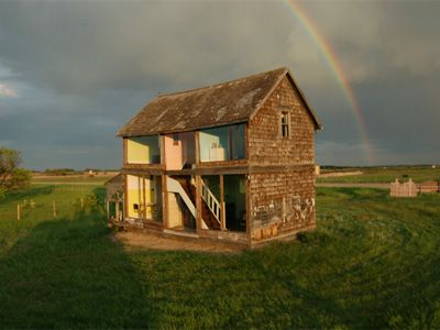 Life-sized dollhouse made from an abandoned farmhouse. Pretty awesome, but clearly someone has too much money haha.