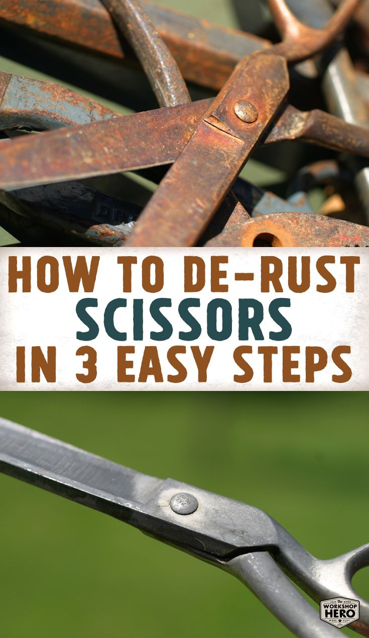 Remove Rust From Scissors In Three Easy Steps Simply Soak Check