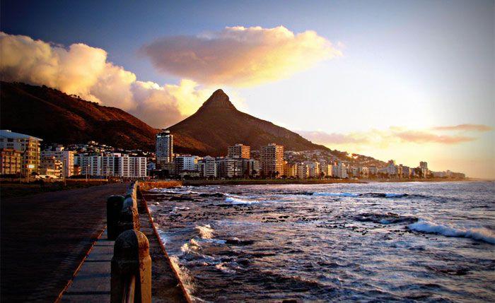 Sea Point promenade, Cape Town.