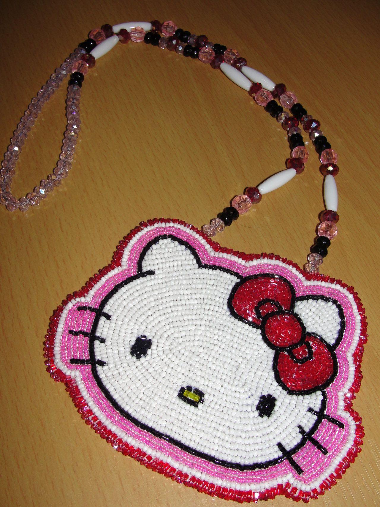 bd1b230ca Hello Kitty Medallion by Denial616.deviantart.com   Bead work ...