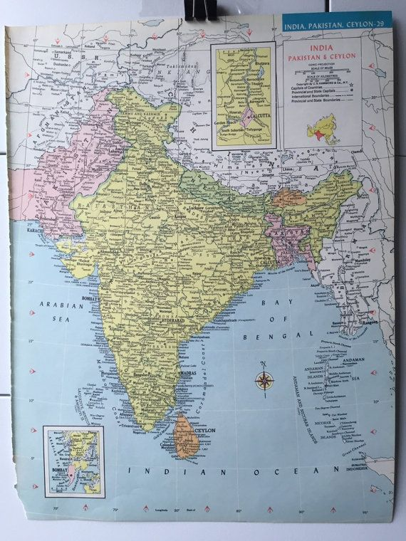Vintage 1965 hammonds world atlas map page burma by greenbasics items similar to vintage 1965 hammonds world atlas map page burma thailand on one side and india pakistan ceylon islands on the other side on etsy gumiabroncs Image collections