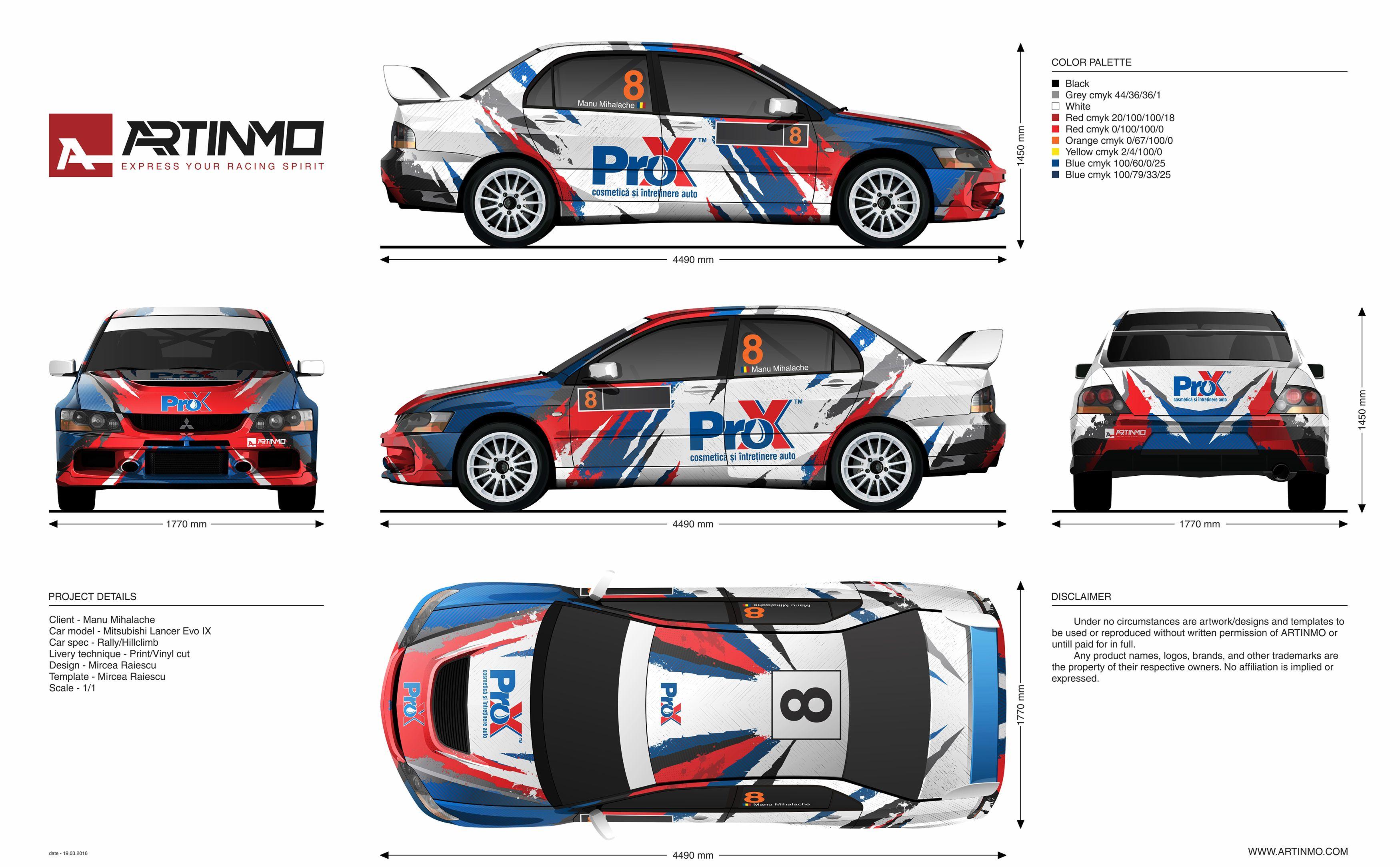 ProX lancer evo IX livery design