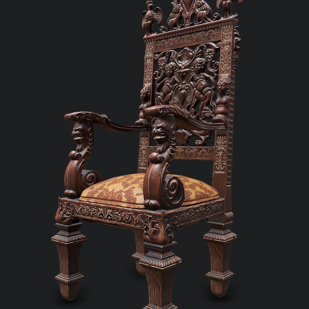 Old Victorian Chair, Phillip Stoltz on ArtStation at https
