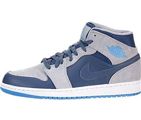5b125aea1da ... where to buy air jordan 1 mid retro basketball shoes new slate dark  powder blue wolf