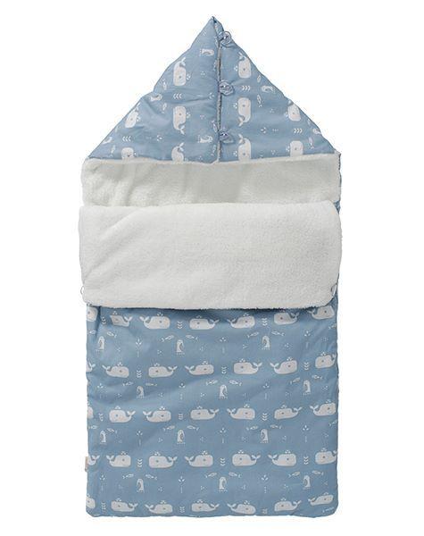 Kleiner kuscheliger Fußsack für Babywannen und Babyschalen von Fresk.