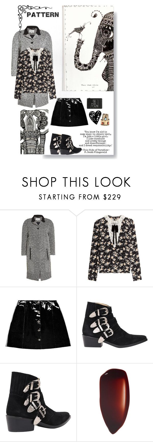 """""""Patterns"""" by sue-mes ❤ liked on Polyvore featuring Carven, The Kooples, Veil London, Toga and Givenchy"""