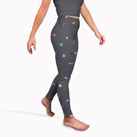 Grey printed yoga pants 21a124c52f3c