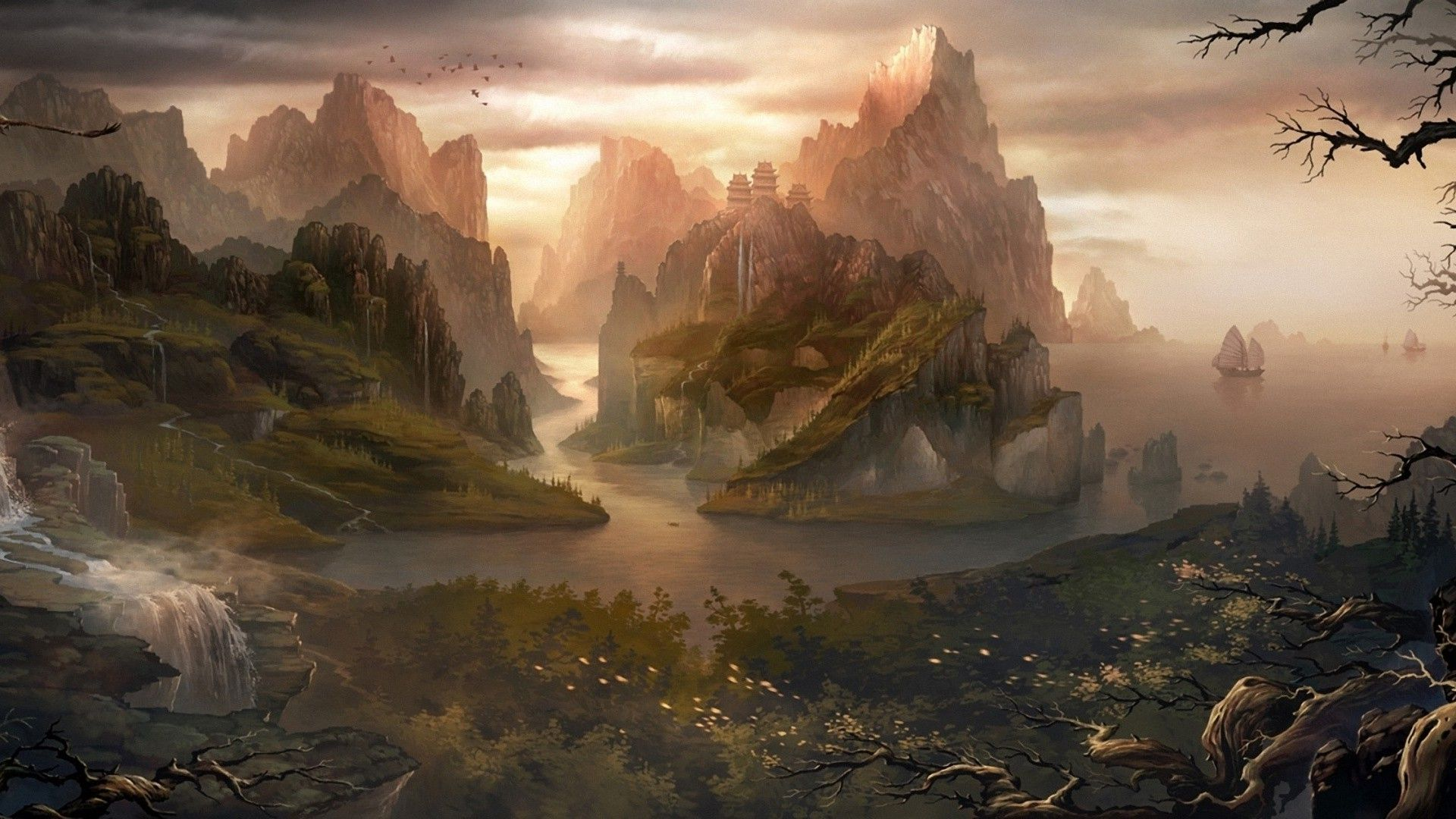 Absolutely Fantastic Hd Fantasy Wallpapers: Fantasy Background Fantasy Wallpaper Free Wallpapers Free