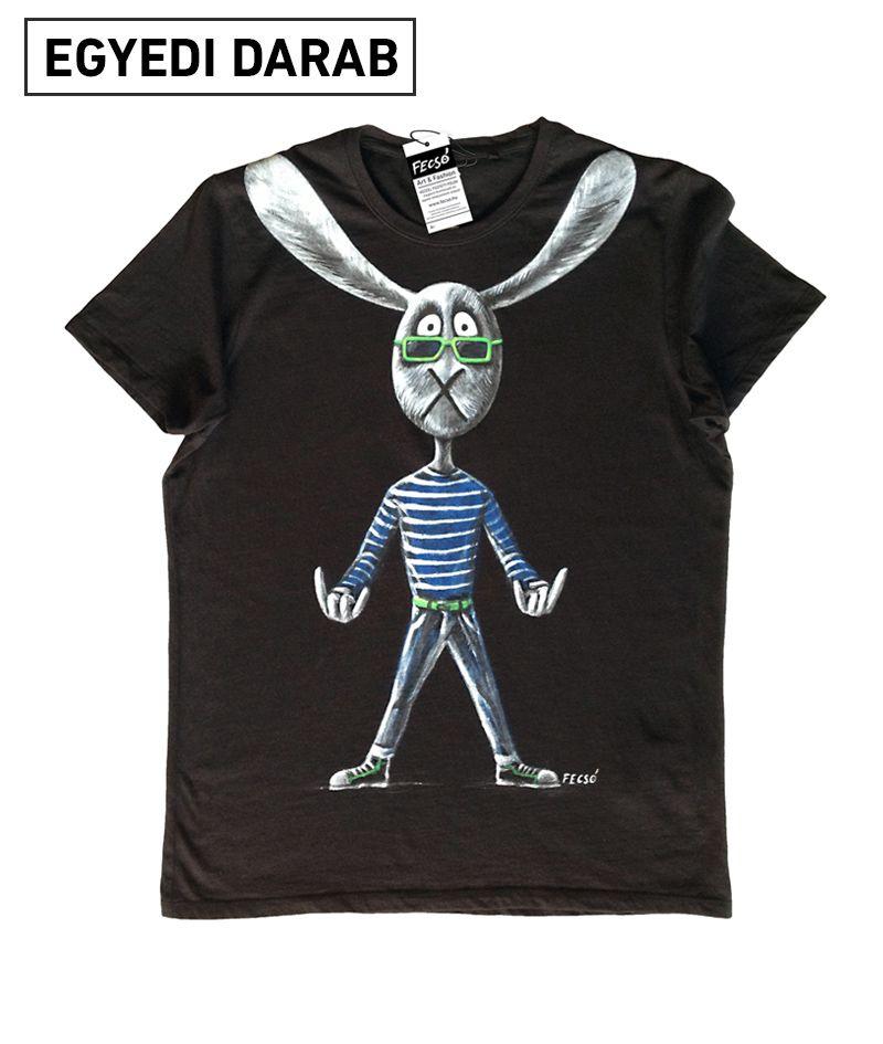Űrkutya Kacsával utazik - kézzel festett egyedi férfi póló M méretben  59975baf85