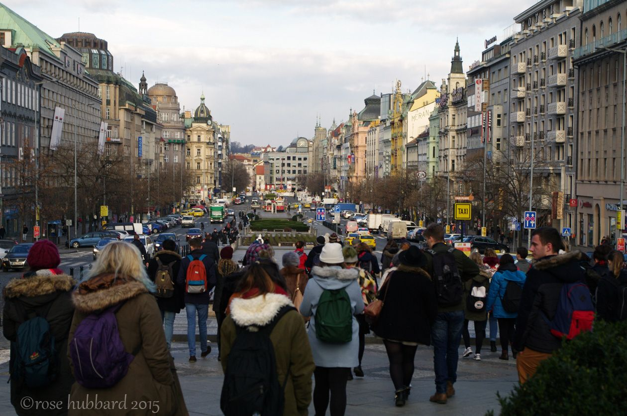 A walk down Wenceslas Square