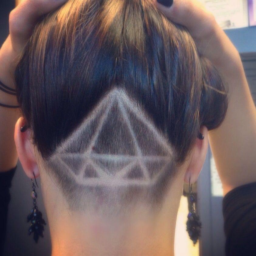 shaved undercut design diamond