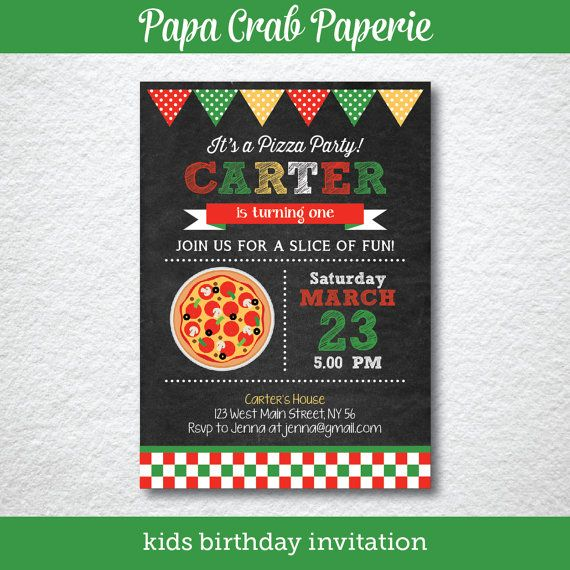 instant download editable pizza birthday invitation pizza