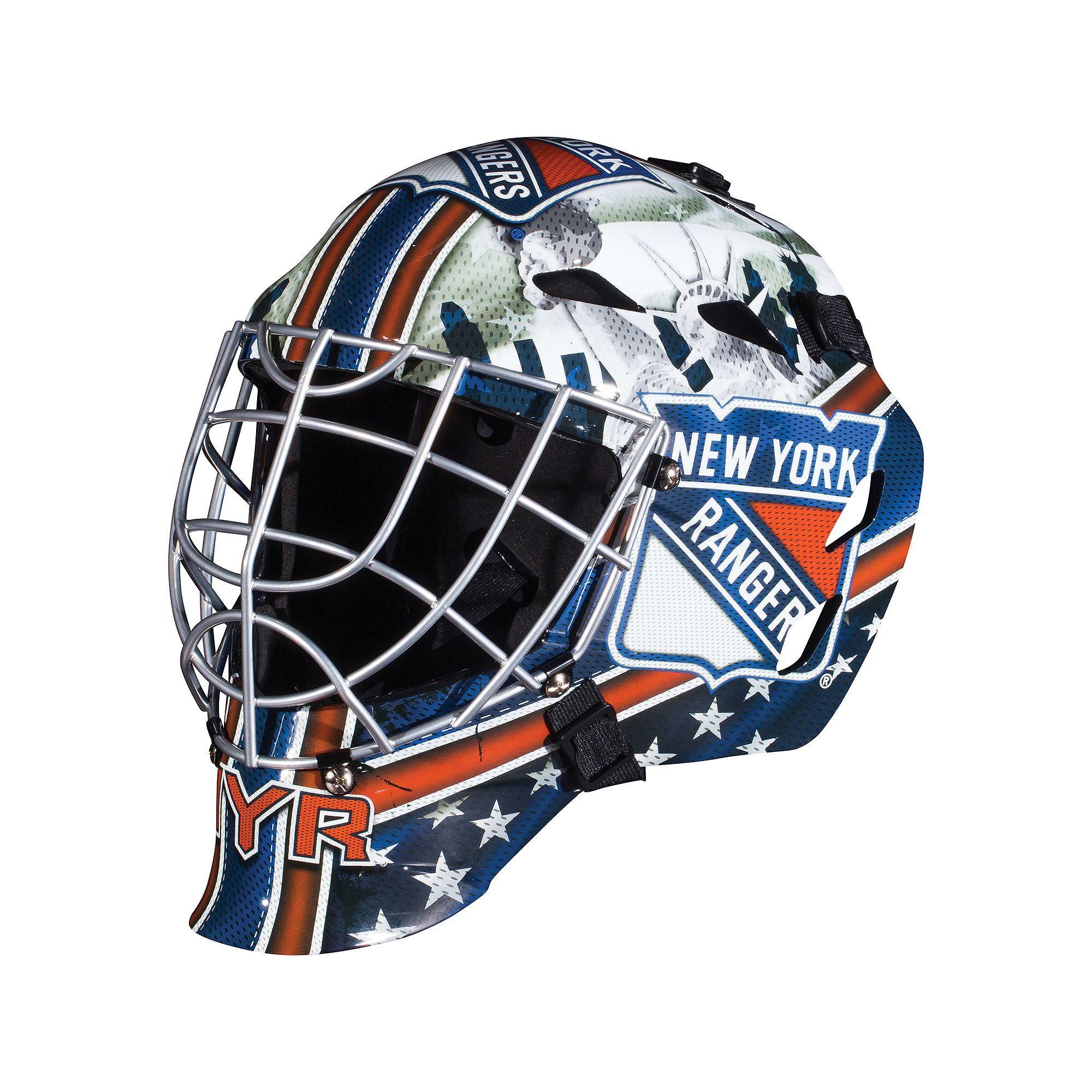 Franklin Youth New York Rangers Gfm 1500 Street Hockey Goalie Face Mask Multicolor New York Rangers Street Hockey Franklin Sports
