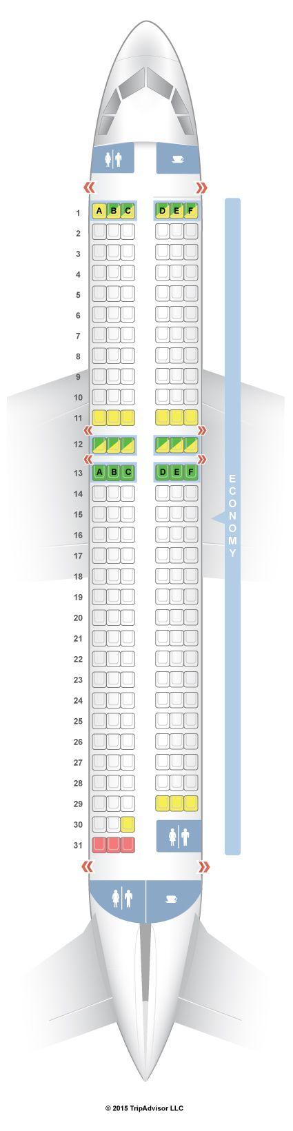 Easyjet Seat Map SeatGuru Seat Map easyJet Airbus A320 (320) V1 | Travel | Plane