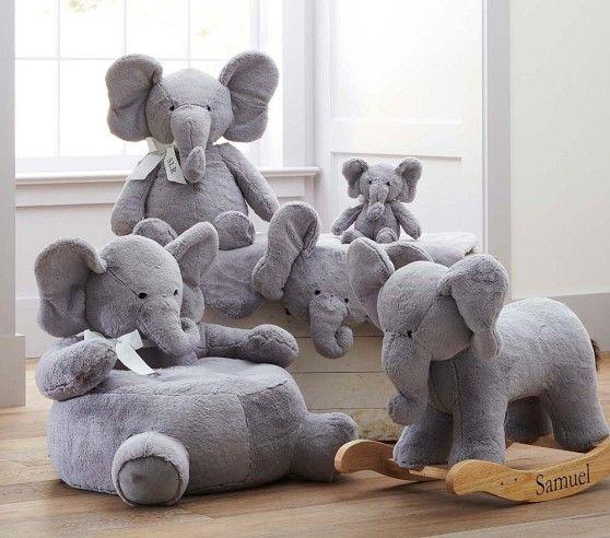 Nursery Elephant Plush Rocker