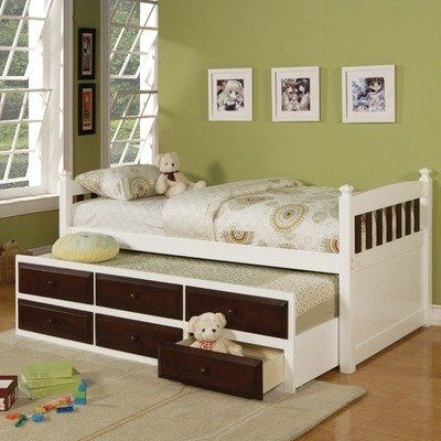 White Finish Twin Daybed With Trundle U0026 Drawers By Coaster Furniture By  Kidsfu