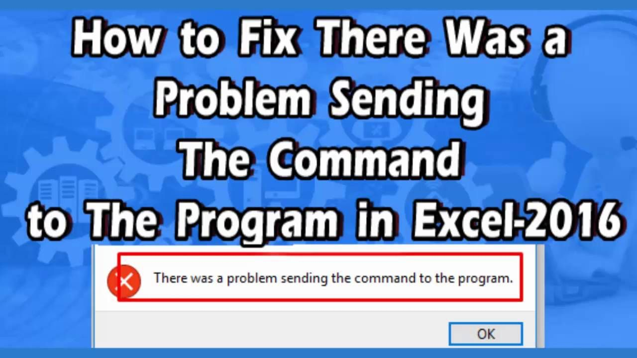 there is a problem sending the command to the programme