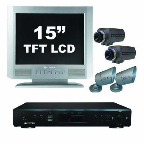 Clover Electronics Tbun15070 15 Inch 4 Channel All In One Security System With 4 Cameras Large Surveillance System Security Surveillance Internet Connections