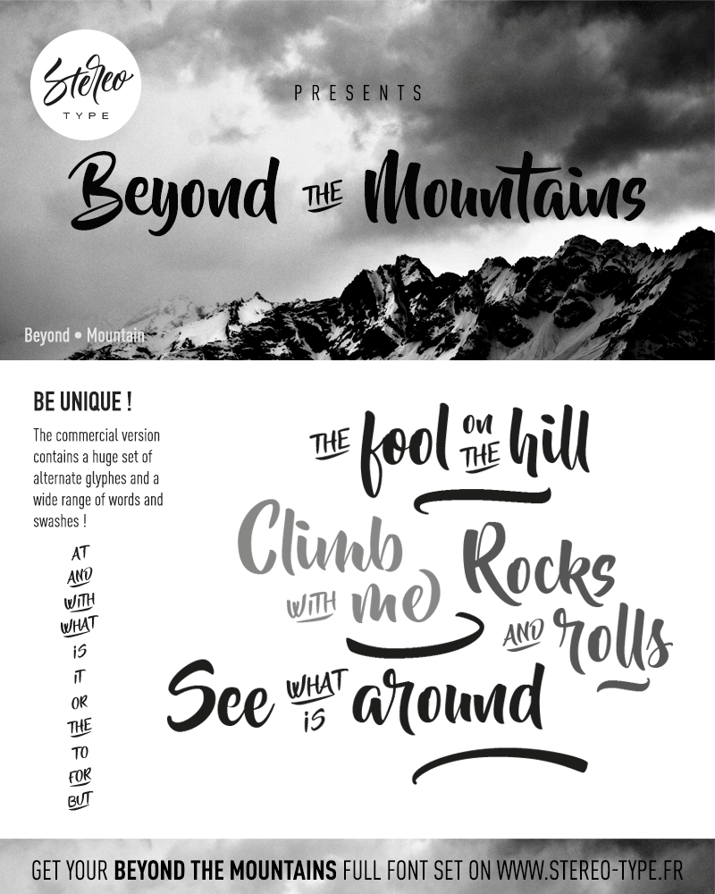 Love Seeing New Awesome Fonts *** Beyond The Mountains