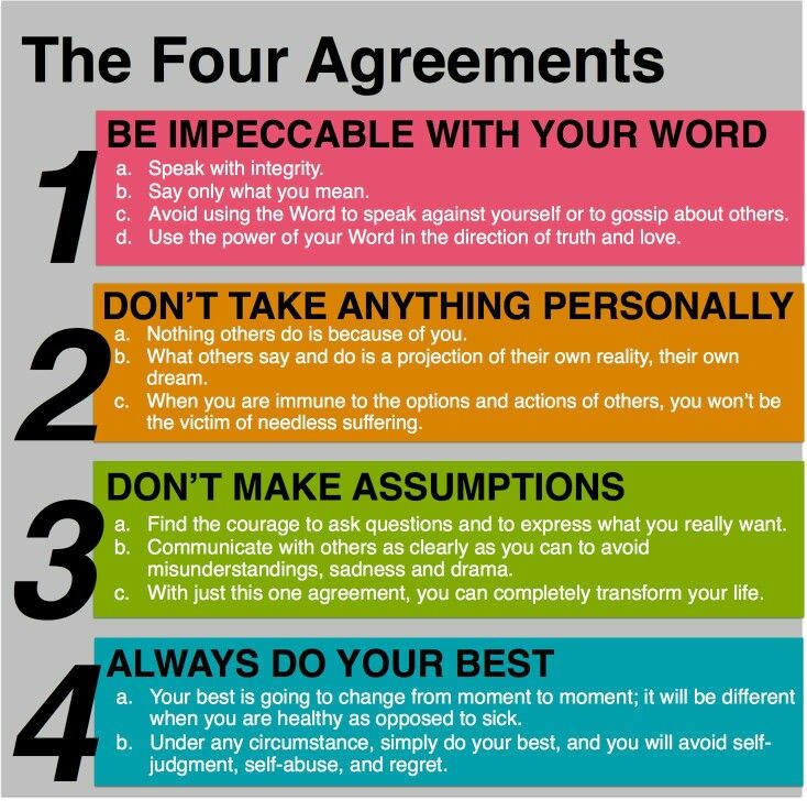 The Four Agreements Shedding Your Shadow Self To Reveal Your