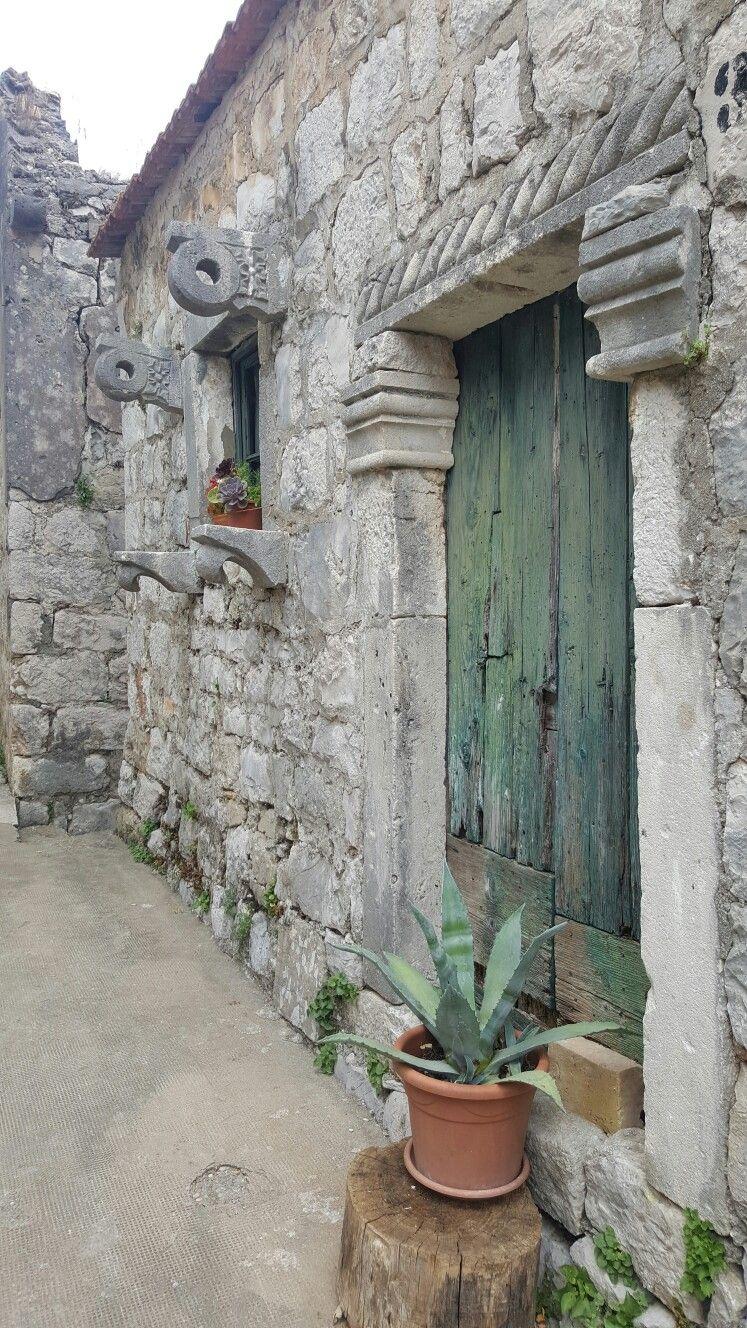 Beautiful doorway, Mali Ston, Croatia