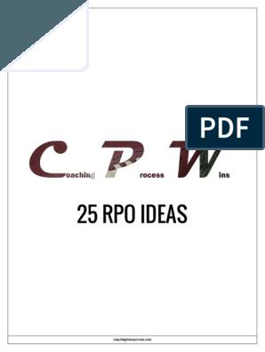 25 RPO Ideas pdf   Football coach   Football, Football