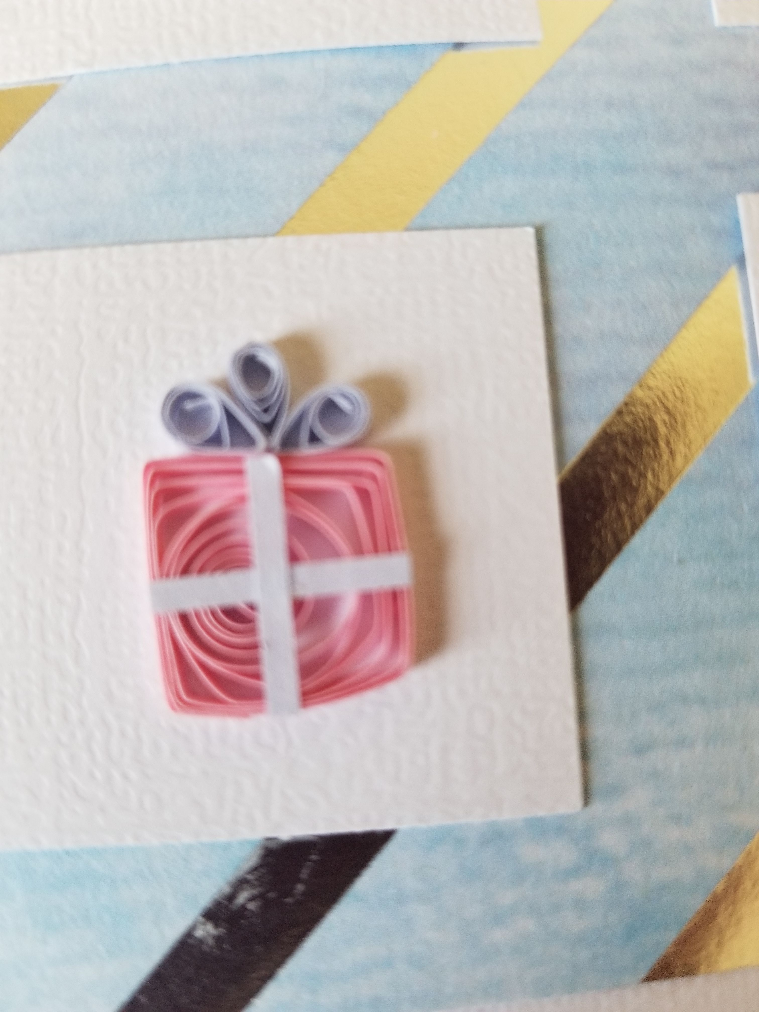 Quilling Present T Bow Quilled Birthday Christmas