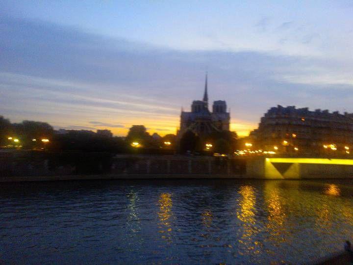 Paris e la Seine de nuit.
