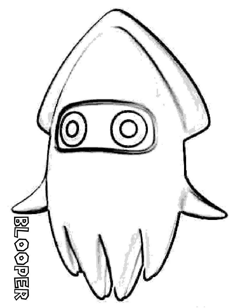 Calamar | Mario Bros Color | Pinterest | Calamares, Colorear y Dibujo