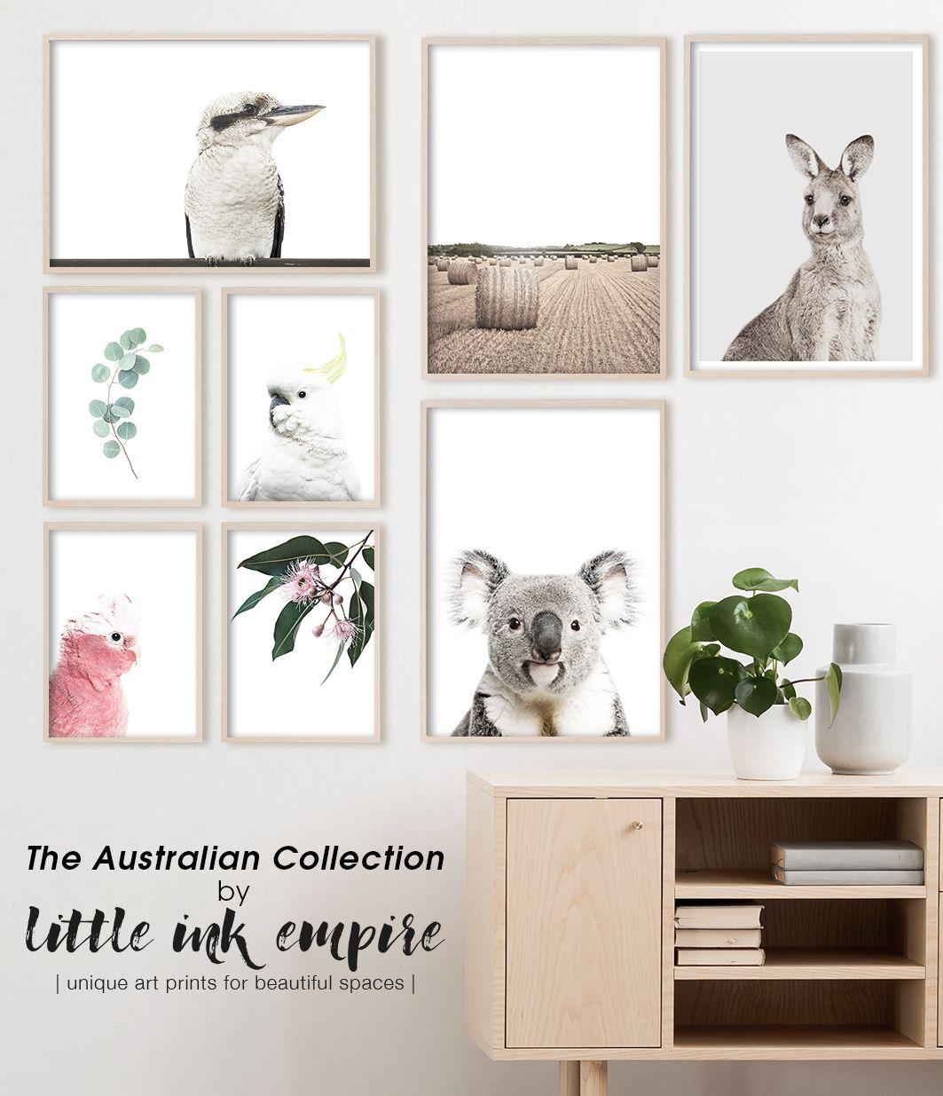 The Native Australian Print Collection By Little Ink Empire Australia Wall Art Australian Decor Australian Home Decor