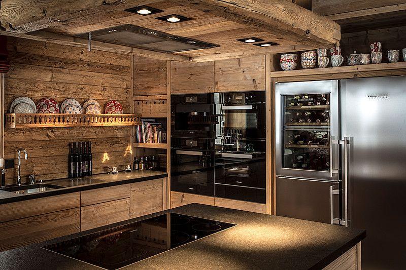 Küche im Luxus Chalet Schmiedalm Saalbach Hinterglemm