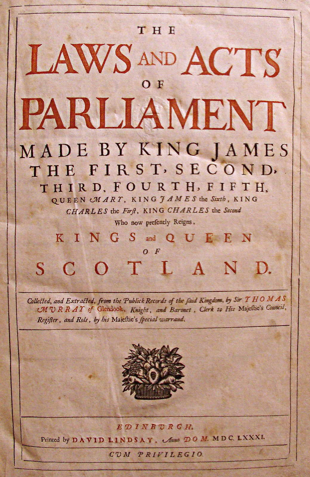 This copy is the perfect book for people who are fond of #17thcenturyhistory.  This #antiquarianbook is a very #rarebook. It includes the acts + Chronologie of of the #kingofscotland since King James the first. This rare copy is illustrated with occasional engravings of the monarch's crests & decorative flourishes. Some occasional foxing, mostly on plates & at front, but generally clean & in surprisingly good condition for its age.