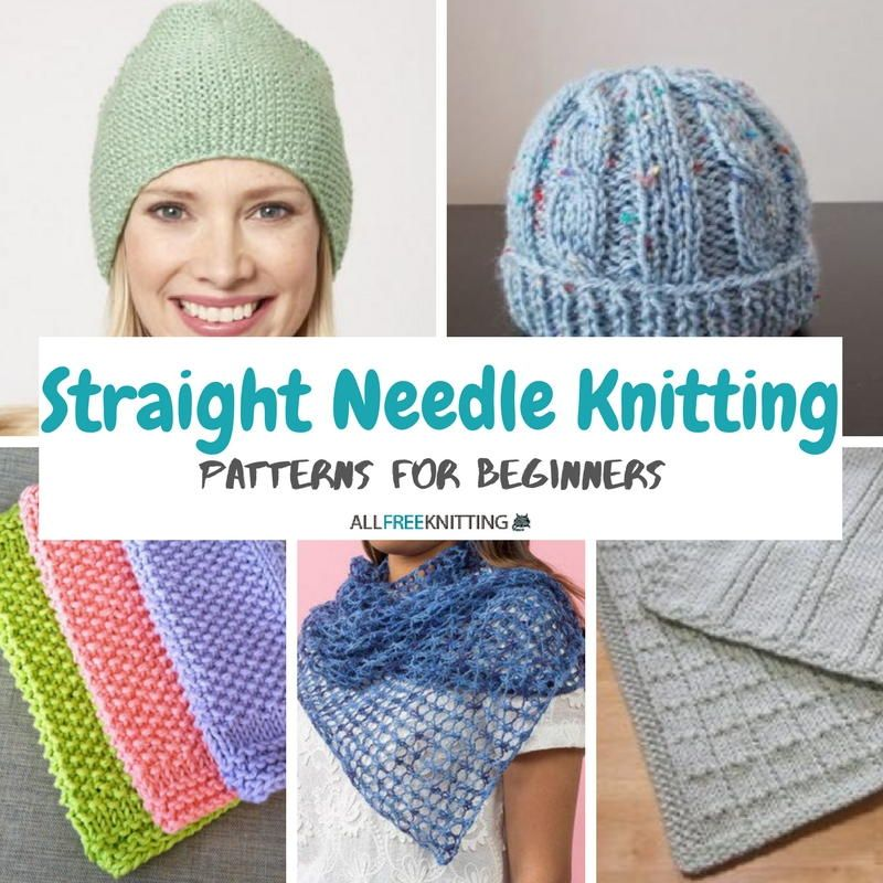24 Straight Needle Knitting Patterns for Beginners Quick